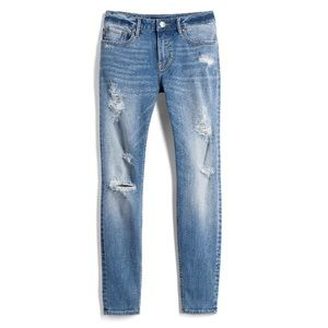 Vigoss Distressed Jagger Light Wash Skinny Jeans